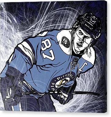 Sidney Crosby Canvas Print by Nate Gandt