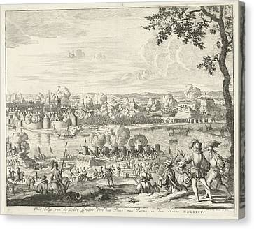 Siege And Storming Of Grave Of The Duke Of Parma Canvas Print