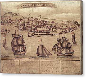 Siege Of Curacao Canvas Print by Library Of Congress, Geography And Map Division