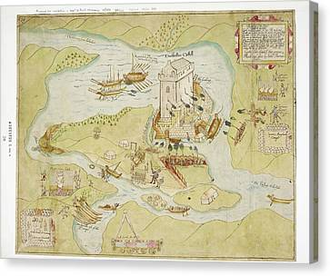 Siege Of Enniskillen Castle Canvas Print