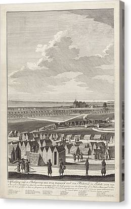 Siege Of Haarlem, 1572-1573 Left Page Canvas Print by Litz Collection