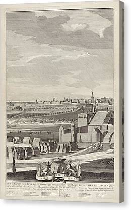 Siege Of Haarlem, 1572-1573 Middle Leaves Canvas Print by Hendrik Spilman And Anonymous And Bernardus Kleynhens