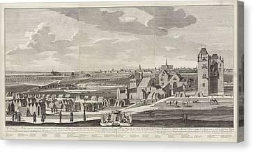 Siege Of Haarlem, 1572-1573, The Netherlands Canvas Print by Hendrik Spilman And Anonymous And Bernardus Kleynhens