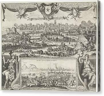 Siege Of Maastricht By Louis Xiv, 1673, Gaspar Bouttats Canvas Print by Gaspar Bouttats