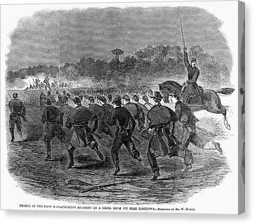 Siege Of Yorktown, 1862 Canvas Print