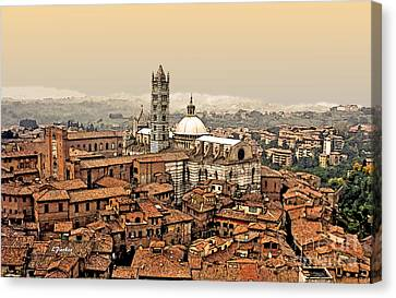 Siena Italy Rooftops Canvas Print