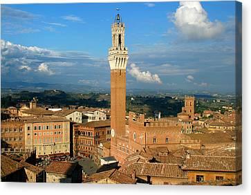 Tuscan Canvas Print - Siena Skyline Tuscany by Mathew Lodge