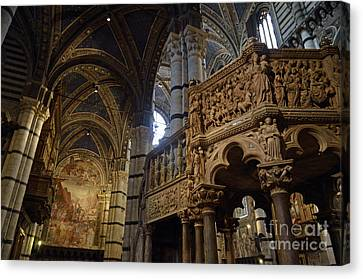 Siena's Duomo Cathedral Canvas Print by Sami Sarkis