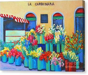 Sienna Flower Market Canvas Print by Sharon Nelson-Bianco