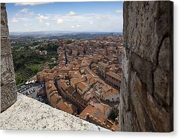 Sienna Italy Canvas Print - Siena From Above by Al Hurley