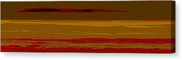 Canvas Print featuring the digital art Sienna Vista by Anthony Fishburne