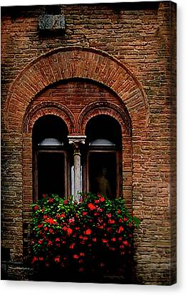 Sienna Italy Canvas Print - Sienna Window by Patrick J Osborne