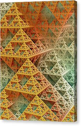 Sponged Canvas Print - Sierpinski Triangles by David Parker