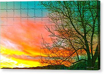 Sierra Sunset Cubed Canvas Print