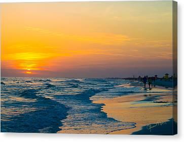 Siesta Key Sunset Walk Canvas Print