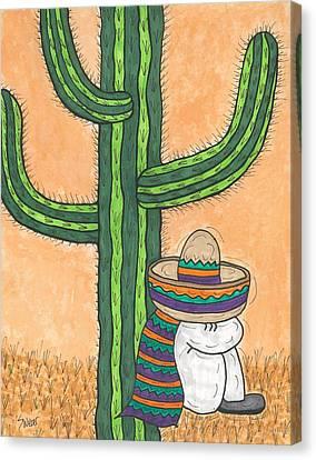 Siesta Saguaro Cactus Time Canvas Print