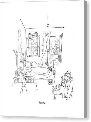 Siesta Canvas Print by Saul Steinberg