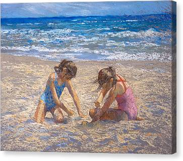 Sifting Sand Canvas Print by Jackie Simmonds