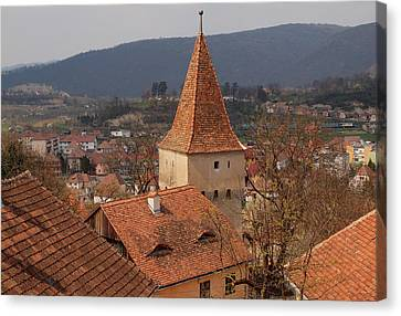 Sighisoara From The Rooftop  Canvas Print