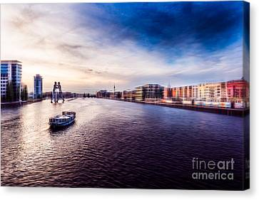 Sightseeing At Sunset Canvas Print by Hannes Cmarits