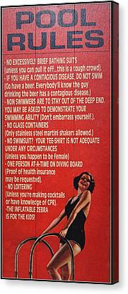 Canvas Print featuring the photograph Sign 2 by Tammy Schneider