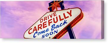 Sign, Las Vegas Nevada, Usa Canvas Print