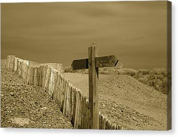Sign Post To Nowhere 2 Canvas Print by Christopher Rowlands