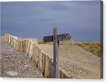 Sign Post To Nowhere Canvas Print by Christopher Rowlands