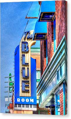 Sign - The Blue Room - Jazz District Canvas Print by Liane Wright