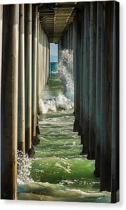 Turquois Water Canvas Print - Sign Wave by Scott Campbell