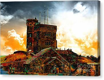 Signal Hill - Cabot Tower - Enhanced Sky Canvas Print by Barbara Griffin