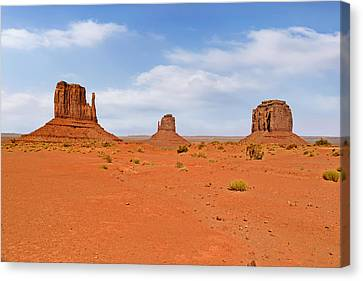 Signatures Of Monument Valley Canvas Print by Christine Till