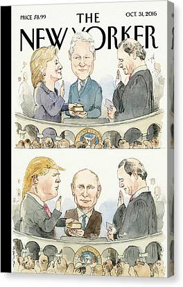 Hillary Clinton Canvas Print - Significant Others by Barry Blitt