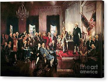 Signing Of The United States Constitution Canvas Print by Pg Reproductions