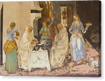 Women With Wine Canvas Print - Signorelli, Luca 1445-1523. Life Of St by Everett