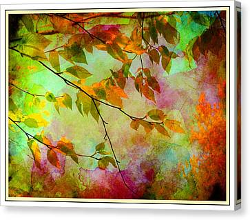Canvas Print featuring the digital art Signs Of Autumn by Nina Bradica
