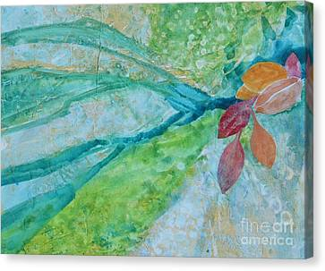 Signs Of Fall Canvas Print by Barbara Tibbets