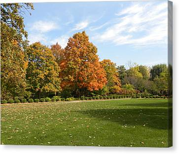 Canvas Print featuring the photograph Signs Of Fall by Teresa Schomig
