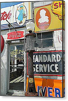Canvas Print featuring the photograph Signs Of Our Times 1 by Kathy Barney