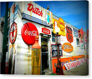 Canvas Print featuring the photograph Signs Of Our Times  by Kathy Barney