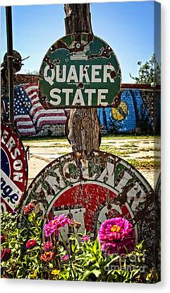 Signs Of The Times On Route 66 Canvas Print by Lee Craig