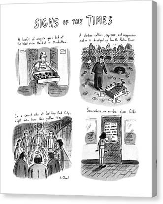 Signs Of The Times: Title Canvas Print by Roz Chast