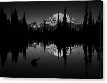 Sihlouette With Tipsoo Canvas Print by Mark Kiver