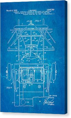 Sikorsky Helicopter Patent Art 3 1932 Blueprint Canvas Print by Ian Monk