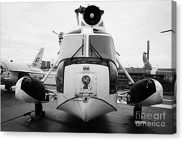 Sikorsky Hh 52 Hh52 Sea Guardian Helicopter On Display Canvas Print by Joe Fox
