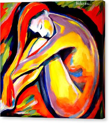 Canvas Print featuring the painting Silence by Helena Wierzbicki