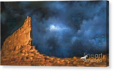 Canvas Print featuring the painting Silence Of The Night by S G
