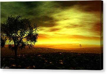 Canvas Print featuring the painting Silence by Tyler Robbins