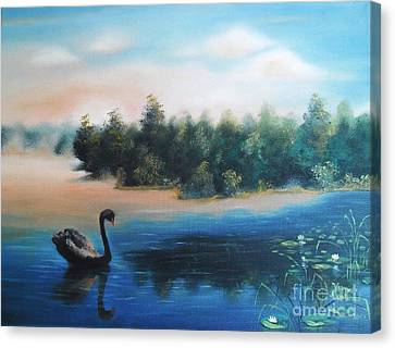 Canvas Print featuring the painting Silence by Vesna Martinjak