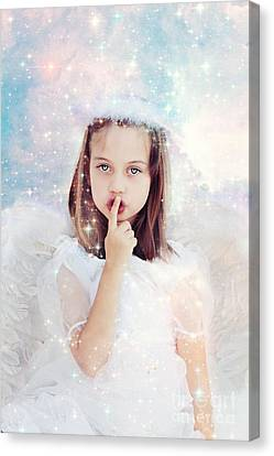 Fingertips Canvas Print - Silent Angel by Stephanie Frey